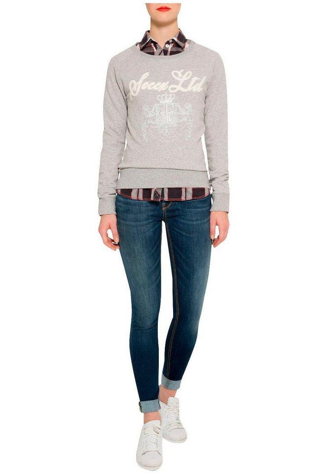 SOCCX Sweatshirt in grau-meliert