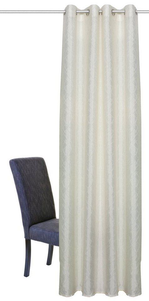 Vorhang, Home Wohnideen, »JULIANA«, mit Ösen (1 Stück) in creme
