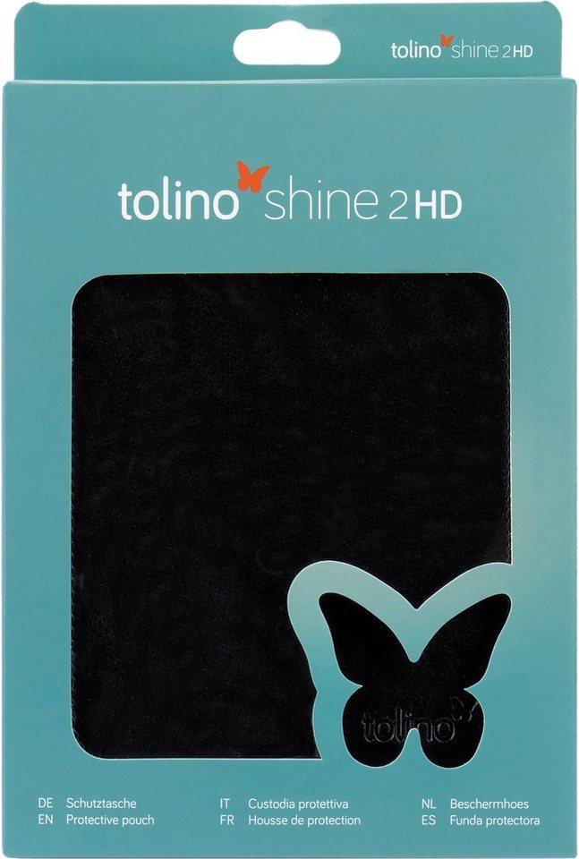 Tolino Slim Tasche aus Kunstleder passend für den Tolino E-Book-Reader Shine 2 HD in Schwarz