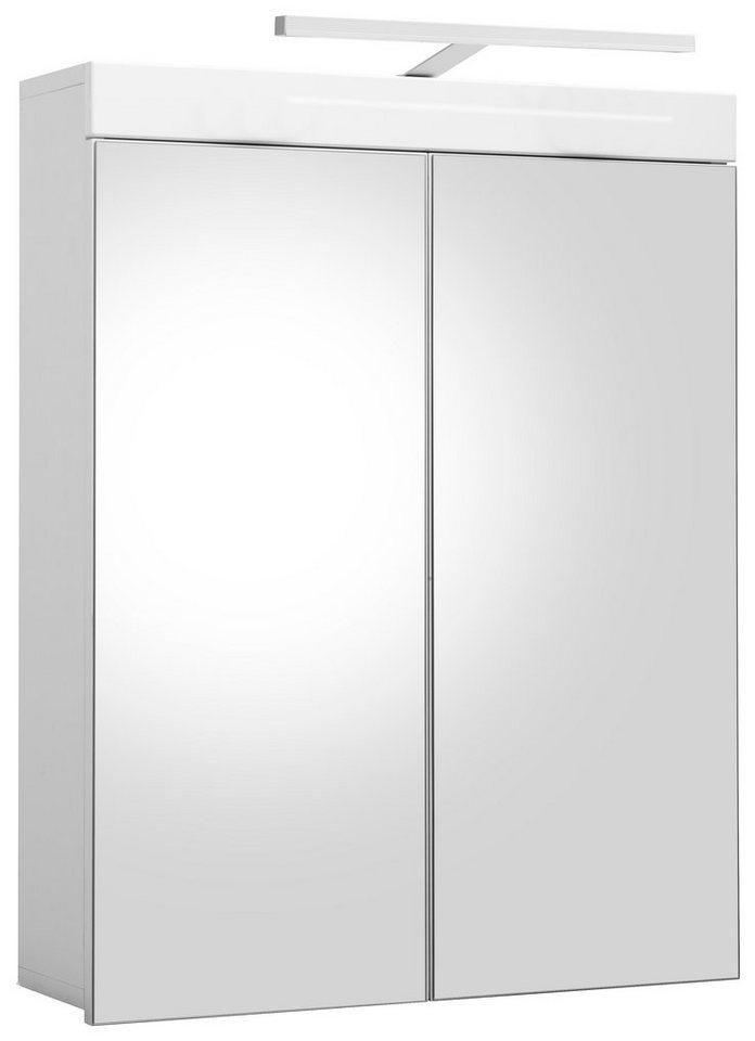 Welltime Spiegelschrank »Amanda« mit LED-Beleuchtung in Weiß - Weiß