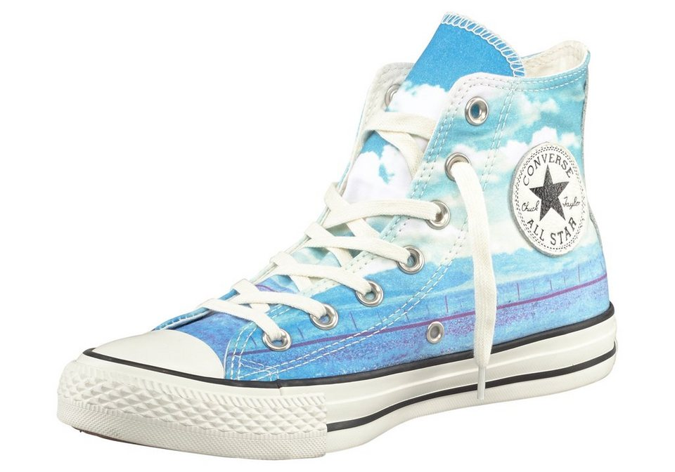 Converse CTAS Photo Real Sunset Sneaker in Blau-Weiß
