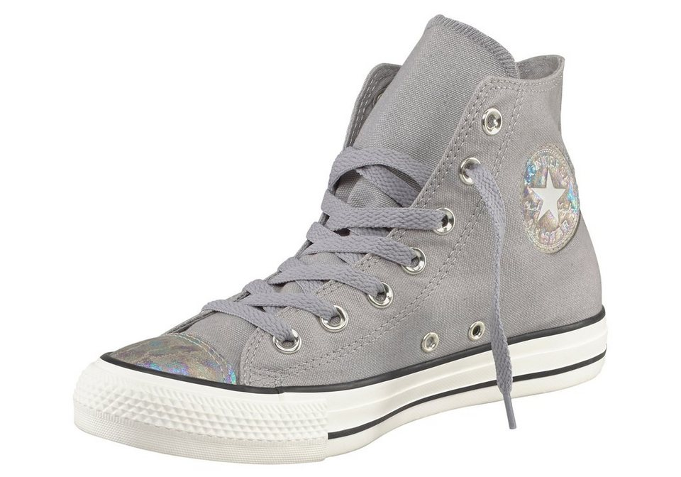 Converse CTAS Canvas Oil Slick Sneaker in Grau