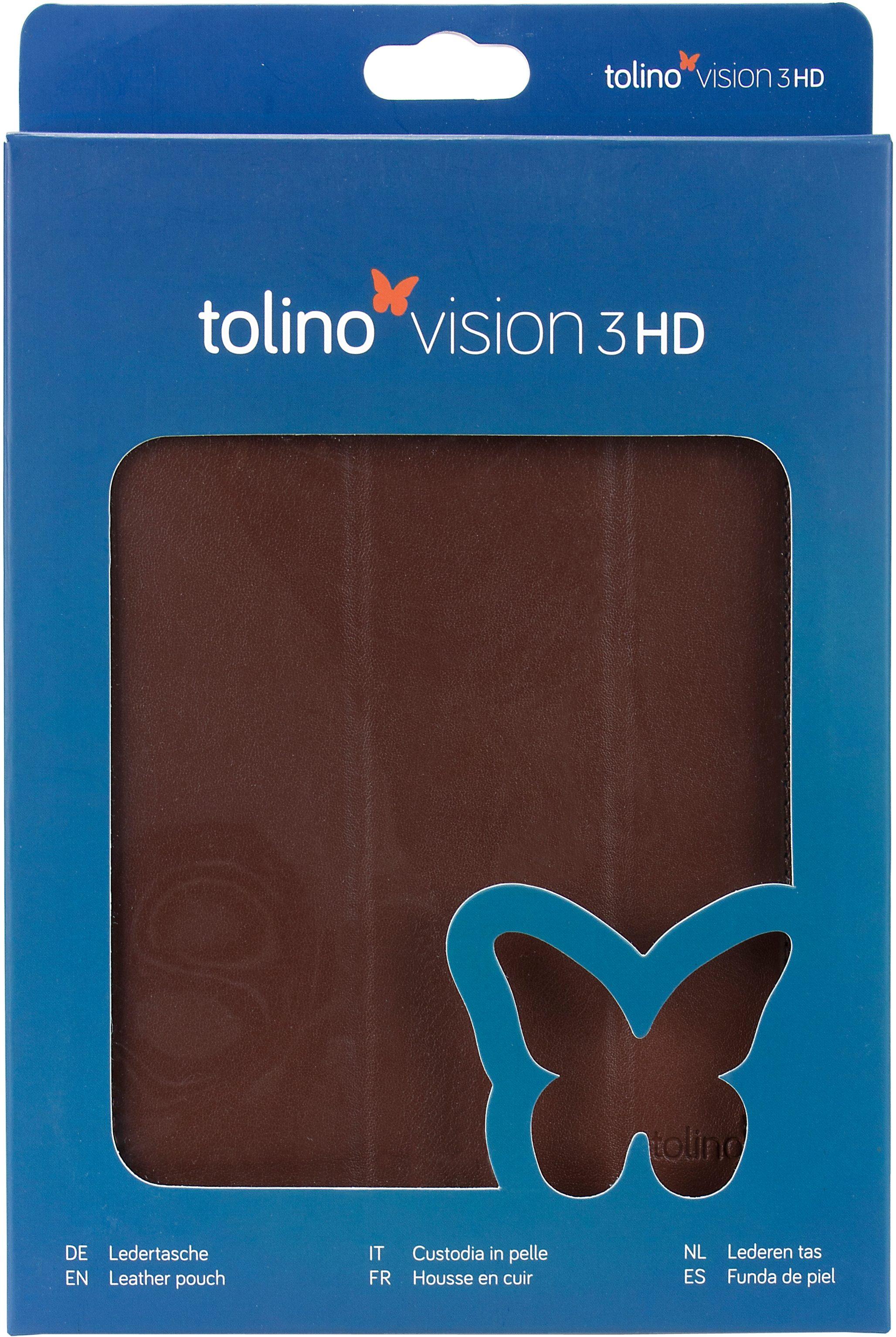 Tolino Falt Tasche aus Leder passend Tolino für den E-Book-Reader Vision 3 HD