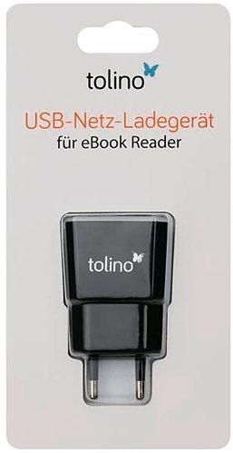 Ladegerät passend für Tolino E-Book-Reader (Shine 2 HD & Vision 3 HD) in Schwarz