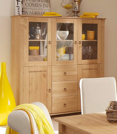 Home affaire Highboard »Ferrera«, 127 cm breit