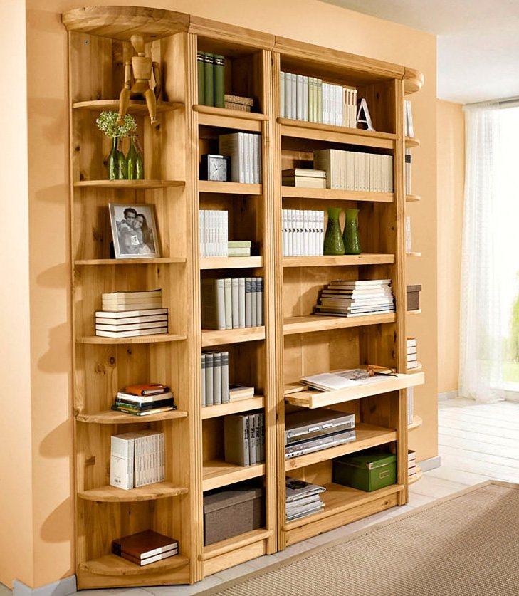 Bücherregal, Home affaire, »Soeren«, in 2 Höhen und 2 Tiefen in gelaugt/geölt
