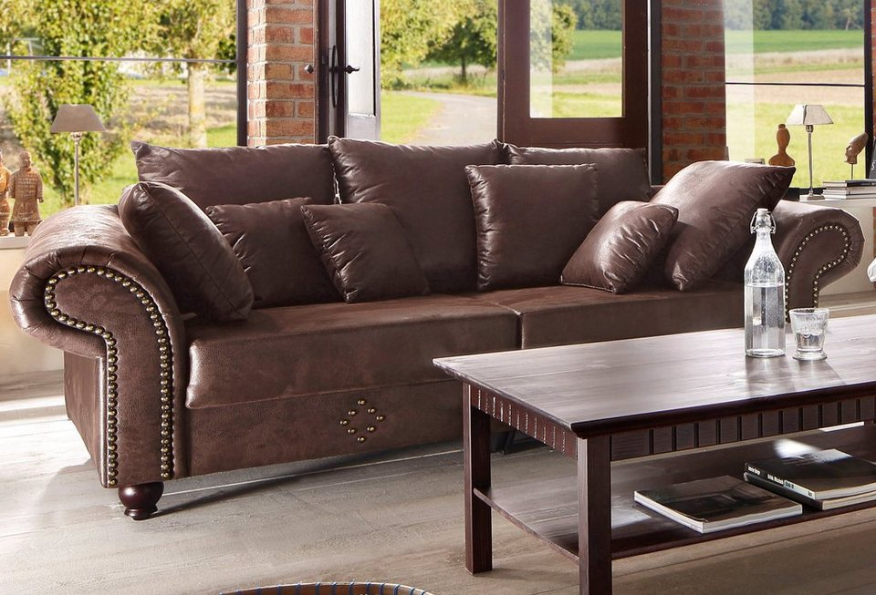 Home affaire big sofa king george online kaufen otto for Sofa landhausstil