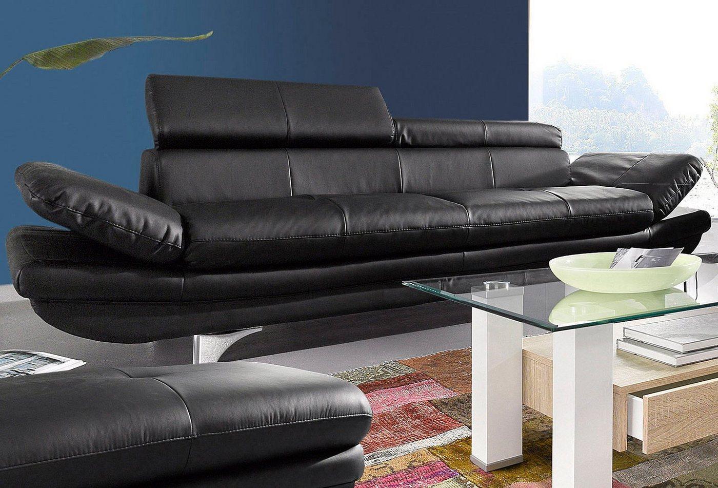 COTTA 3-Sitzer | Wohnzimmer > Sofas & Couches > 2 & 3 Sitzer Sofas | Schwarz | COTTA