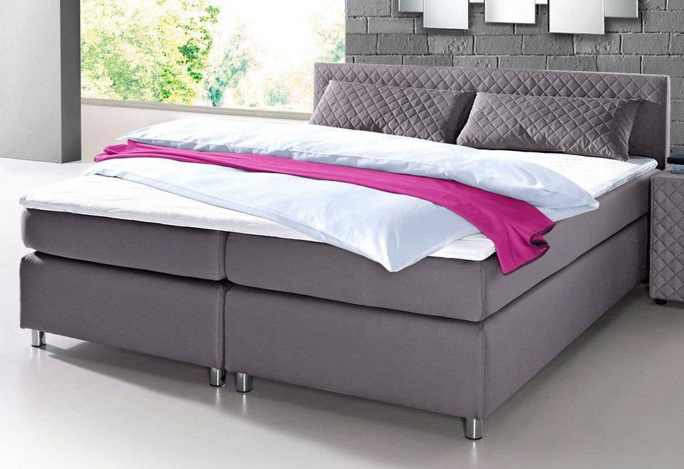 boxspringbett inkl topper und zierkissen kaufen otto. Black Bedroom Furniture Sets. Home Design Ideas