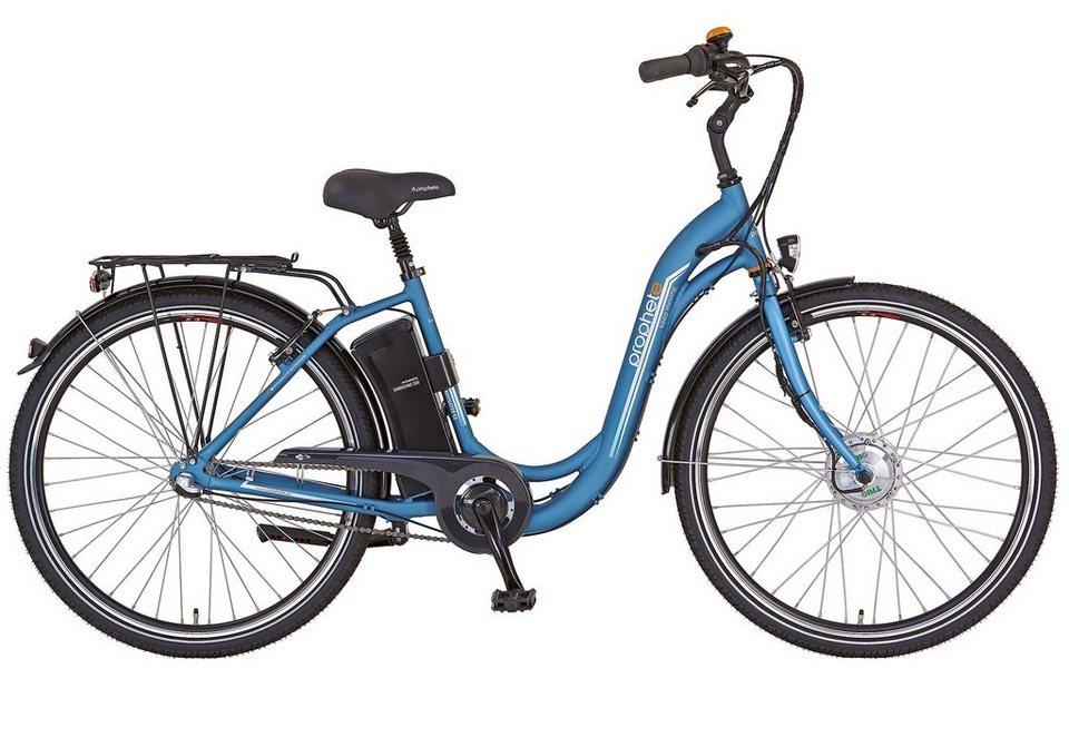 Prophete E-Bike City, 28 Zoll, 3 Gang Shimano Nexus Nabenschaltung, »Navigator 6.0« in eisblau-matt