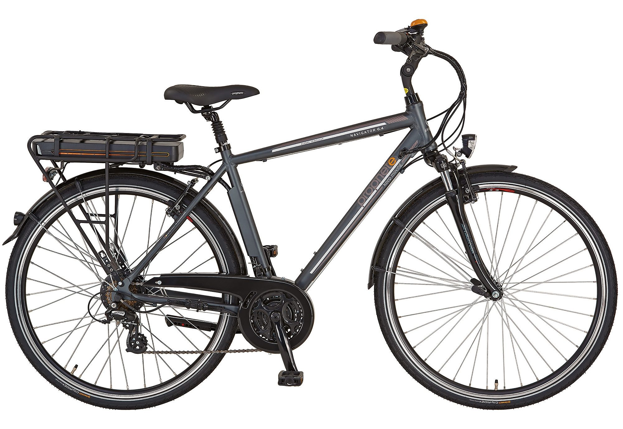 Prophete E-Bike Trekking Herren, 28 Zoll, 24 Gang Shimano Kettenschaltung, »Navigator 6.4«