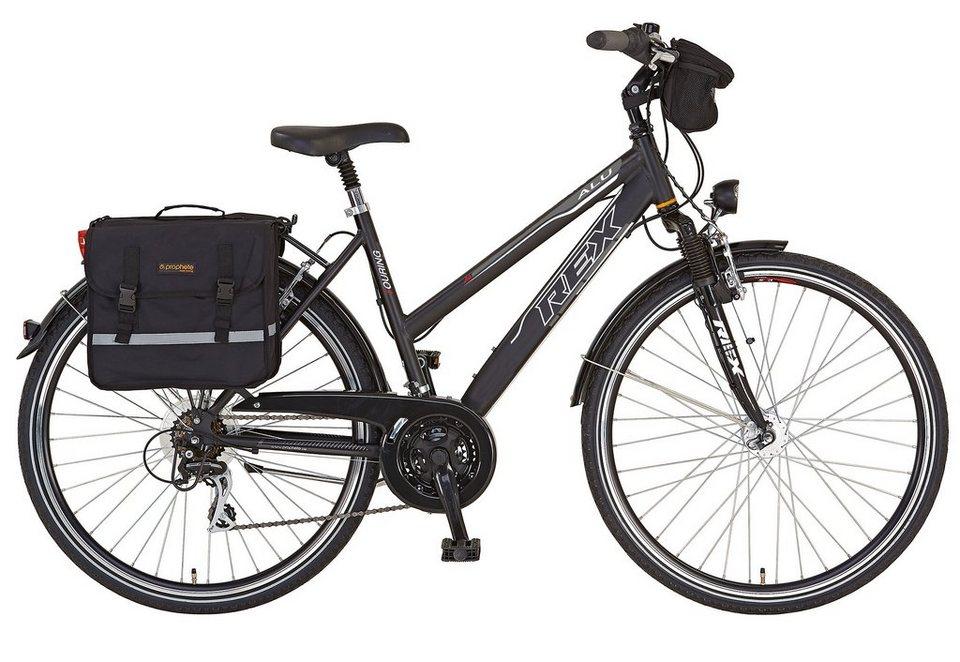REX Bike Trekkingrad »Expedition«, 24 Gang Shimano Acera Schaltwerk ...