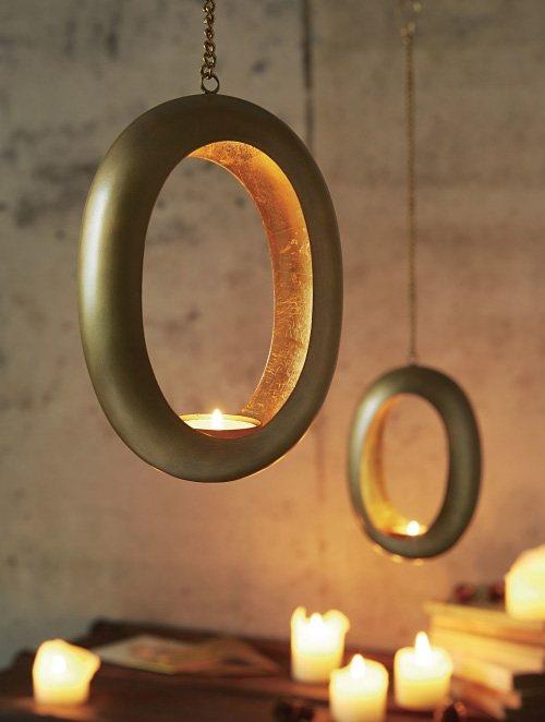 Mailord Collection Teelichthalter zum Hängen in goldfarben