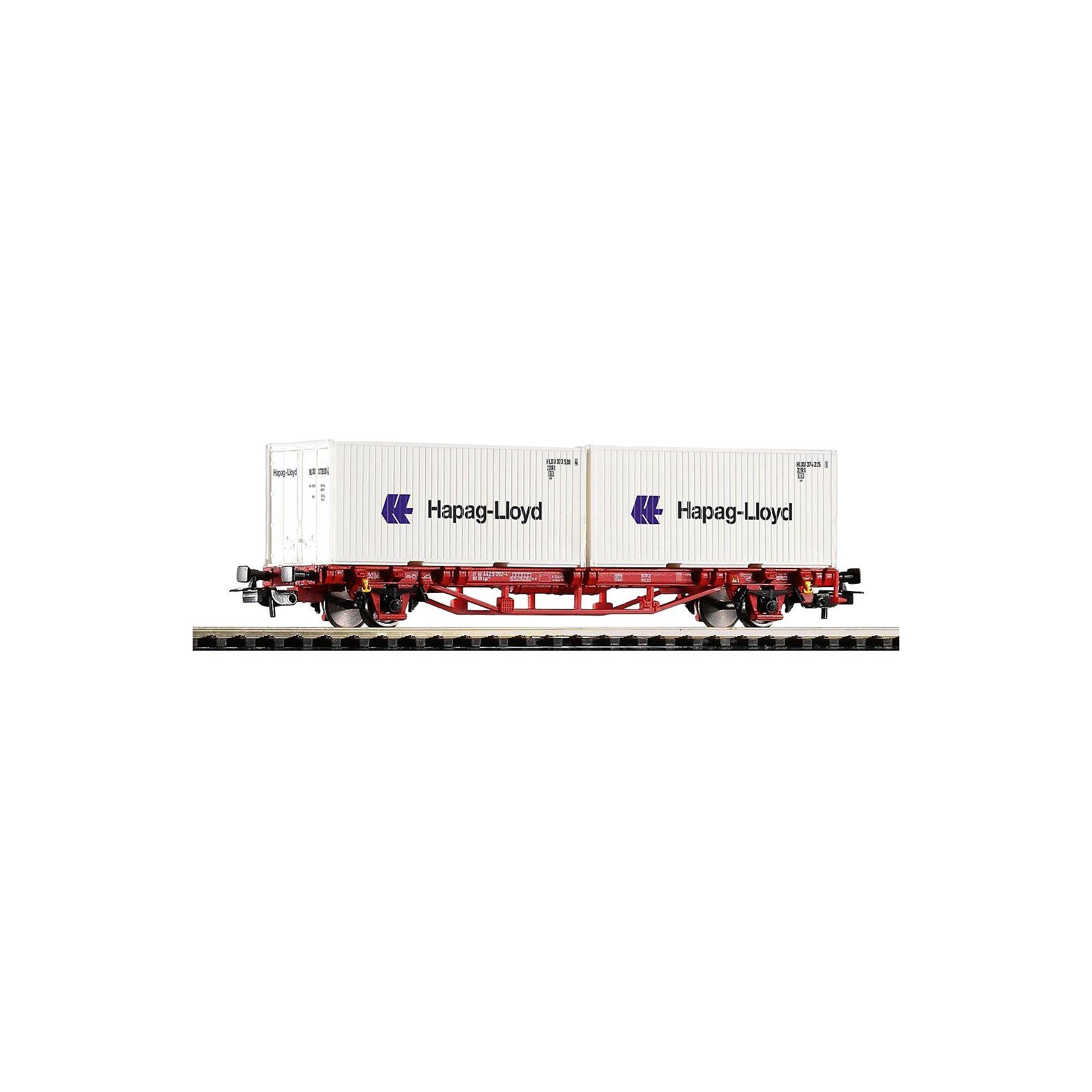 """PIKO Spur H0 - Containertrgwg. Lgs579 """"Hapag Lloyd"""" DB AG VI 2x20"""