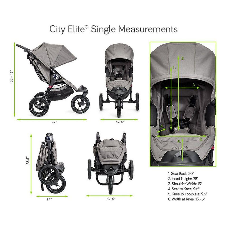 BABYJOGGER City Elite® Einer 3 Rad Kinderwagen mit Handbremse in Red