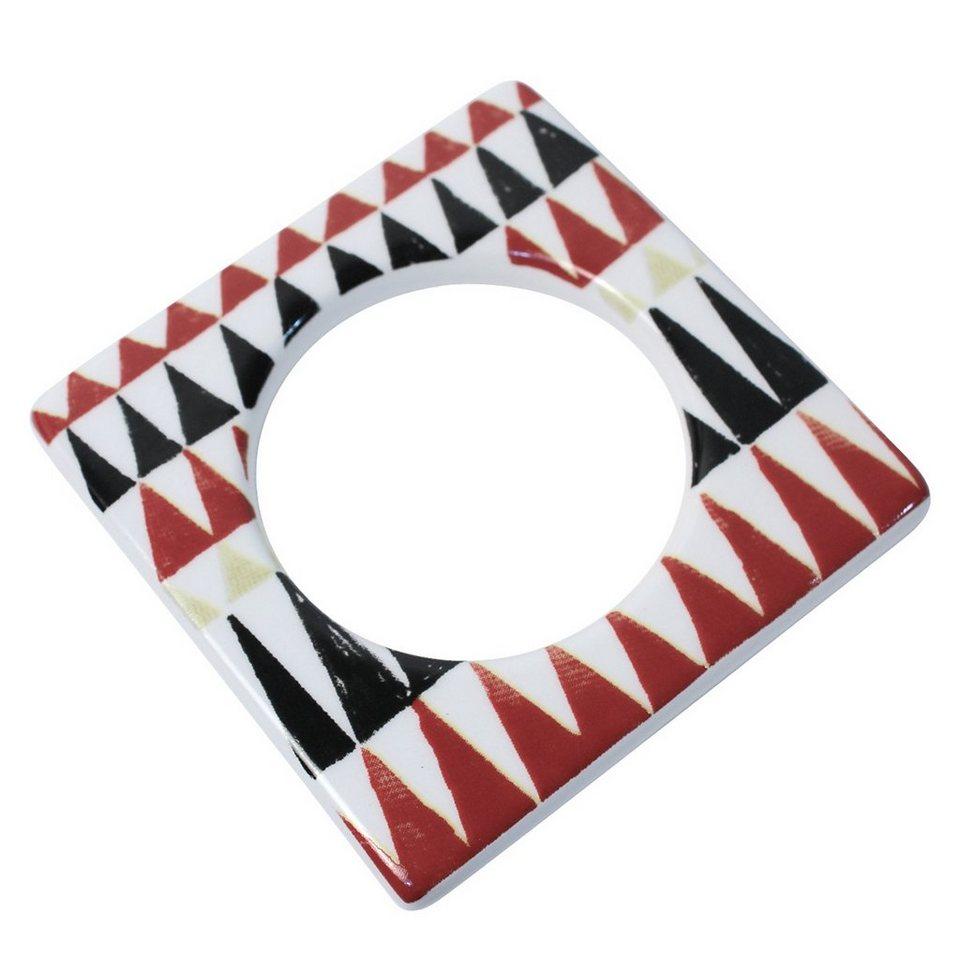 CULTDESIGN Cult Design Manschette für Teelichthalter retro in rot weiß schwarz