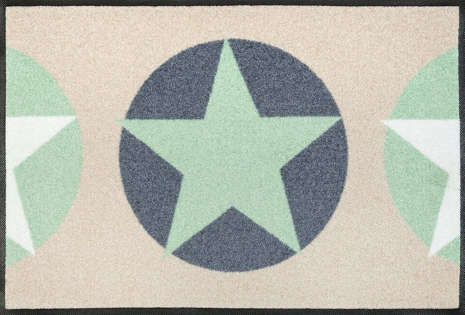 Fußmatte »Reach Stars«, wash+dry by Kleen-Tex, rechteckig, Höhe 7 mm in apricot-grau