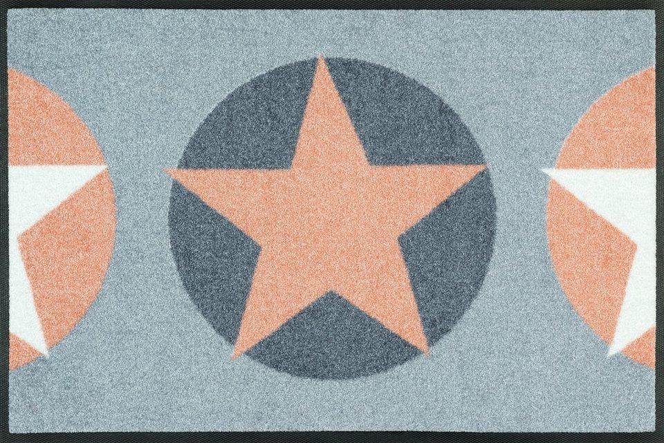 Fußmatte, wash+dry by Kleen-Tex, »Reach Stars«, Höhe 7 mm, gedruckt in mint/grau