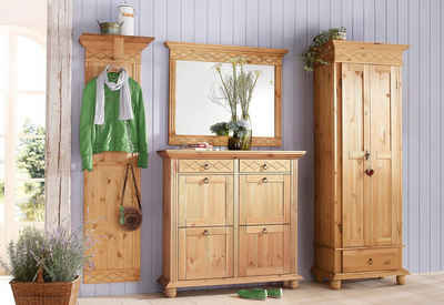 Garderobe eiche rustikal cool gebraucht garderobe for Home affaire mobel gebraucht