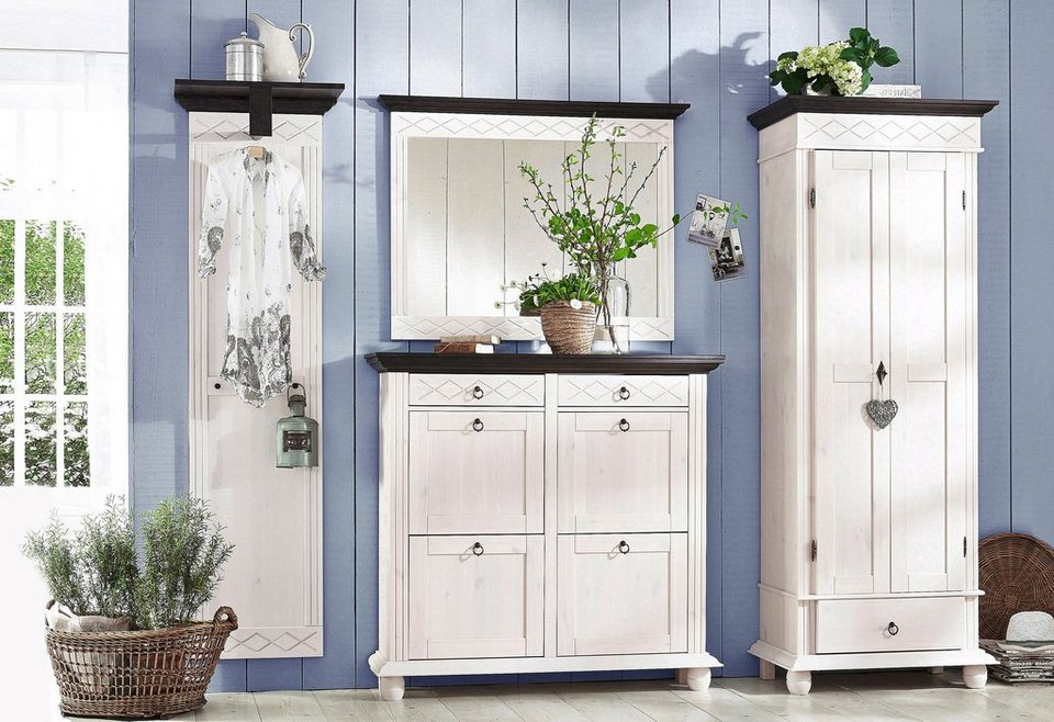 Home affaire garderoben set helma 4 tlg otto for Garderobe birke