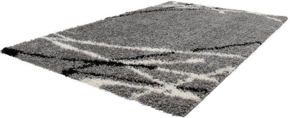 Hochflor-Teppich, Lalee, »Joy 121«, Höhe 50 mm, gewebt in silber