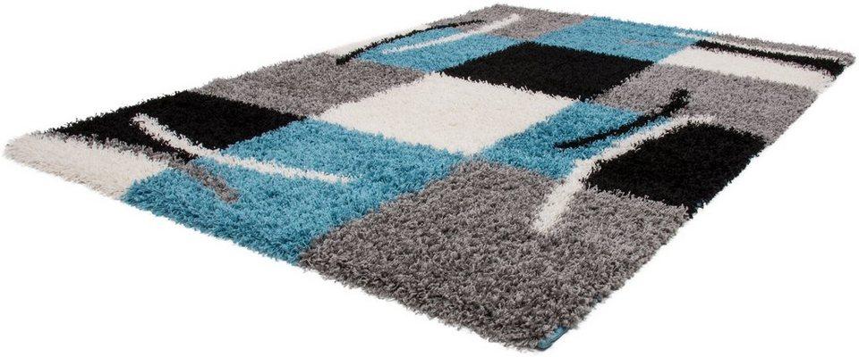 Hochflor-Teppich, Lalee, »Joy 120«, Höhe 50 mm, gewebt in blau