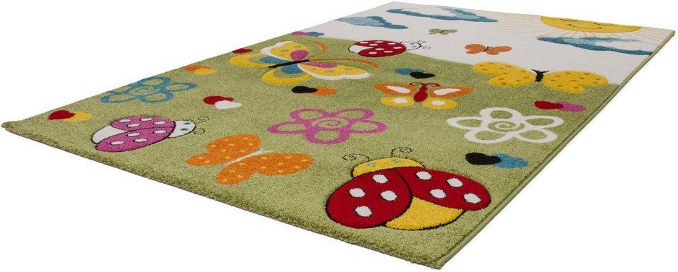 Kinder-Teppich, Lalee, »Amigo 314«, gewebt in grün