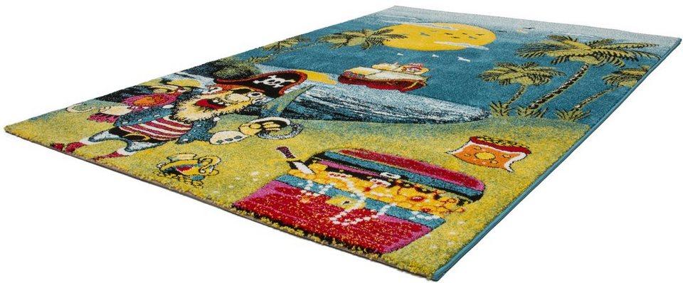 Kinder-Teppich,Lalee, »Amigo 316«, gewebt in pirat