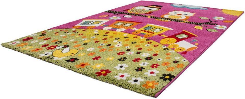 Kinder-Teppich,Lalee, »Amigo 315«, gewebt in pink