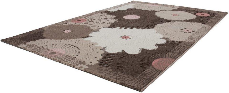 Teppich, Lalee, »Jemila 538«, gewebt in greige
