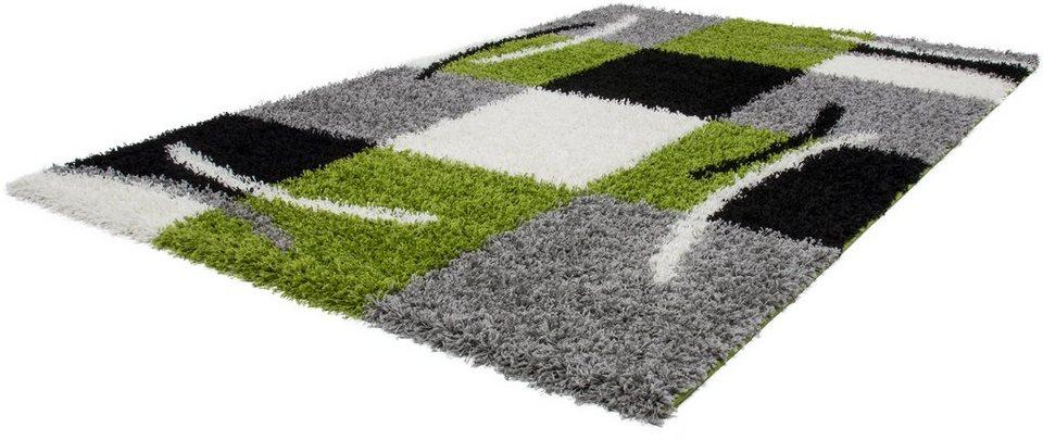Hochflor-Teppich, Lalee, »Joy 120«, Höhe 50 mm, gewebt in grün