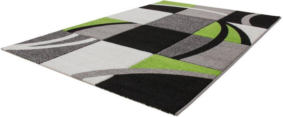 Teppich, Lalee, »Havanna 421«, gewebt in grün