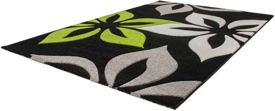 Teppich, Lalee, »Havanna 420«, gewebt in grün