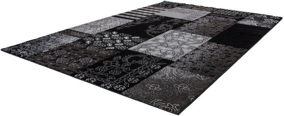 Teppich, Lalee, »Jemila 536«, gewebt in schwarz