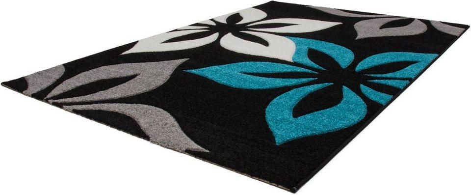 Teppich, Lalee, »Havanna 420«, gewebt in blau