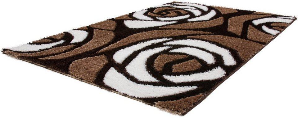 Hochflor-Teppich, Lalee, »Sedef 278«, Höhe 35 mm, gewebt in braun