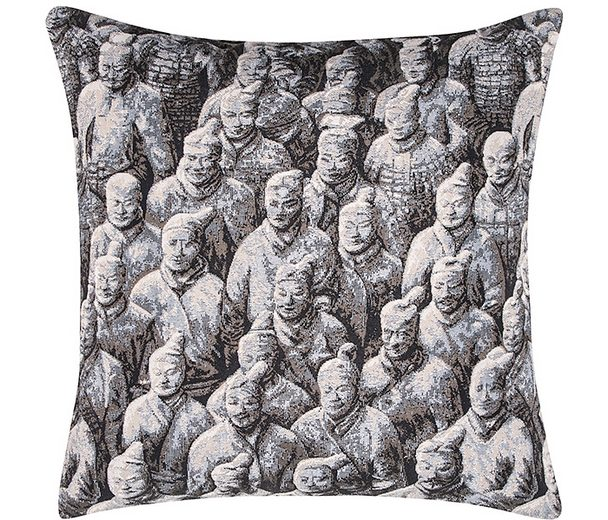 Kissenbezug, pad, »Shanghai«, mit chinesischen Kriegern