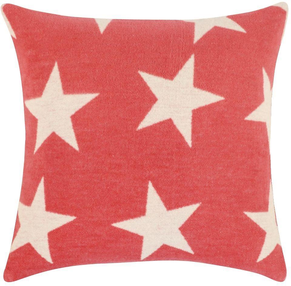 Kissenbezug, pad, »Star«, mit großen Sternen in koralle