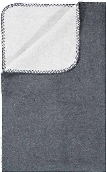 Wohndecke, pad, »Hobart«, mit Wendeseite in grau