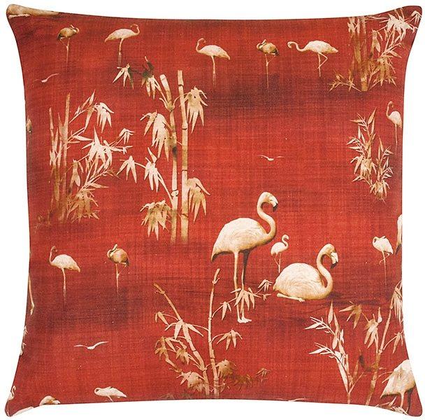 Kissenbezug, pad, »Paola«, mit Flamingos in rot