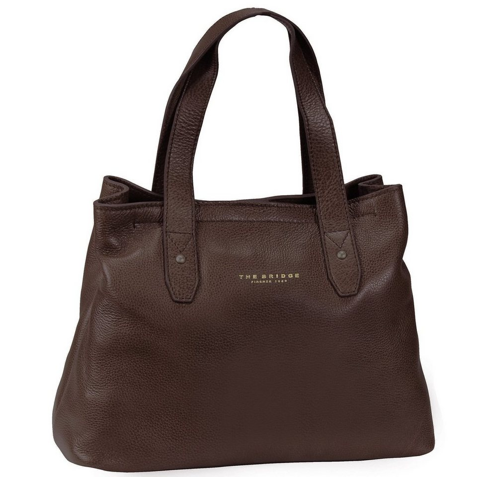 The Bridge Sfoderata Soft Donna Shopper Leder 35 cm in marrone