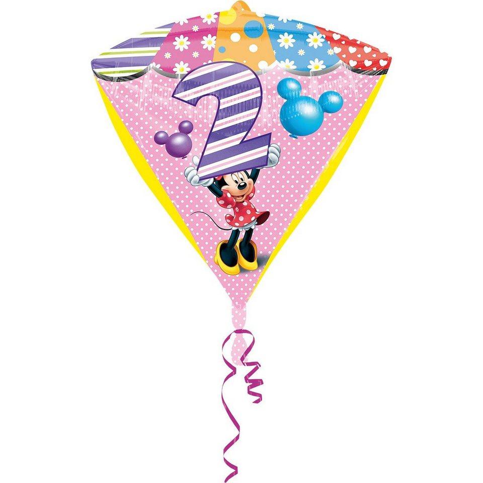 amscan folienballon minnie maus zahl 2 kaufen otto. Black Bedroom Furniture Sets. Home Design Ideas