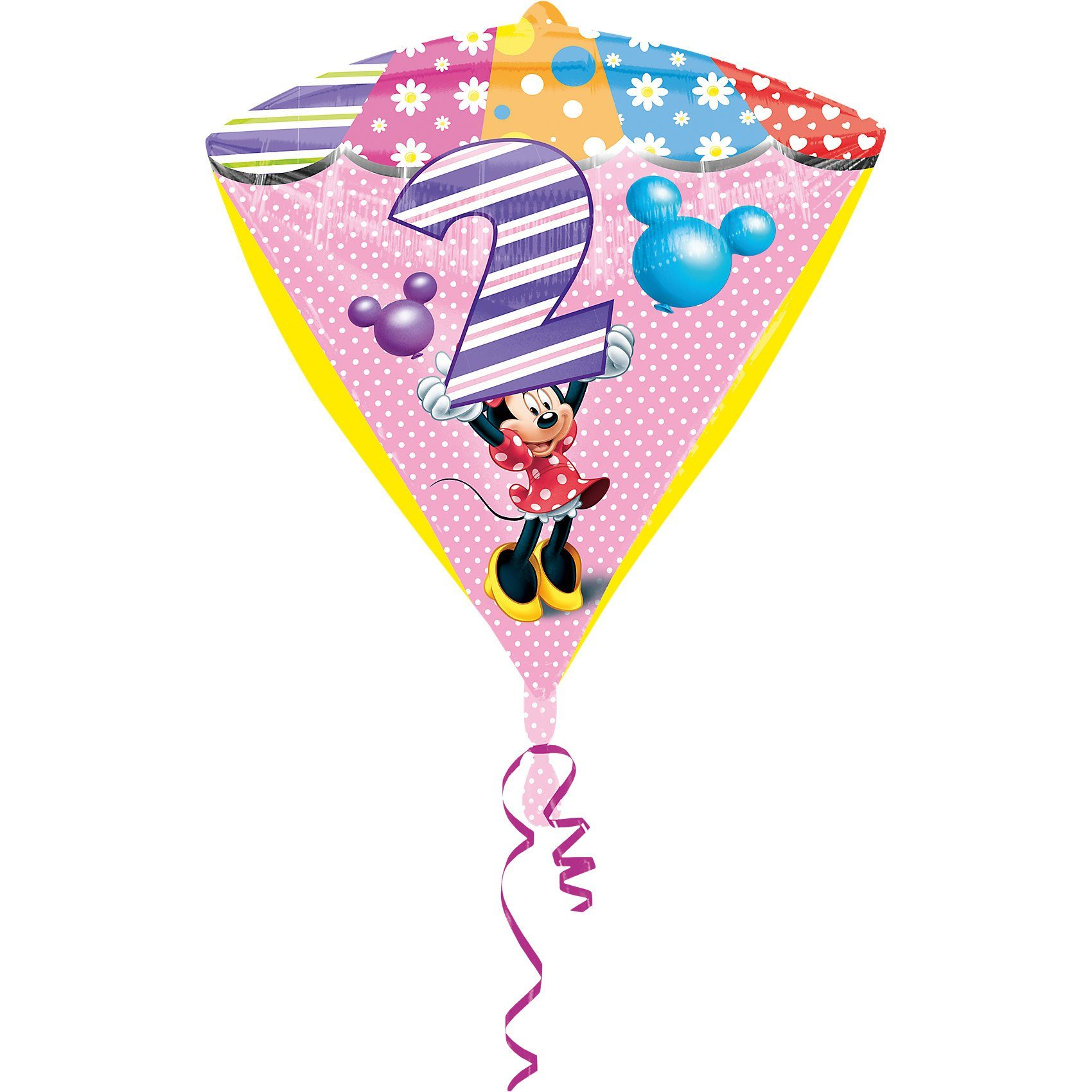 Amscan Folienballon Minnie Maus Zahl 2