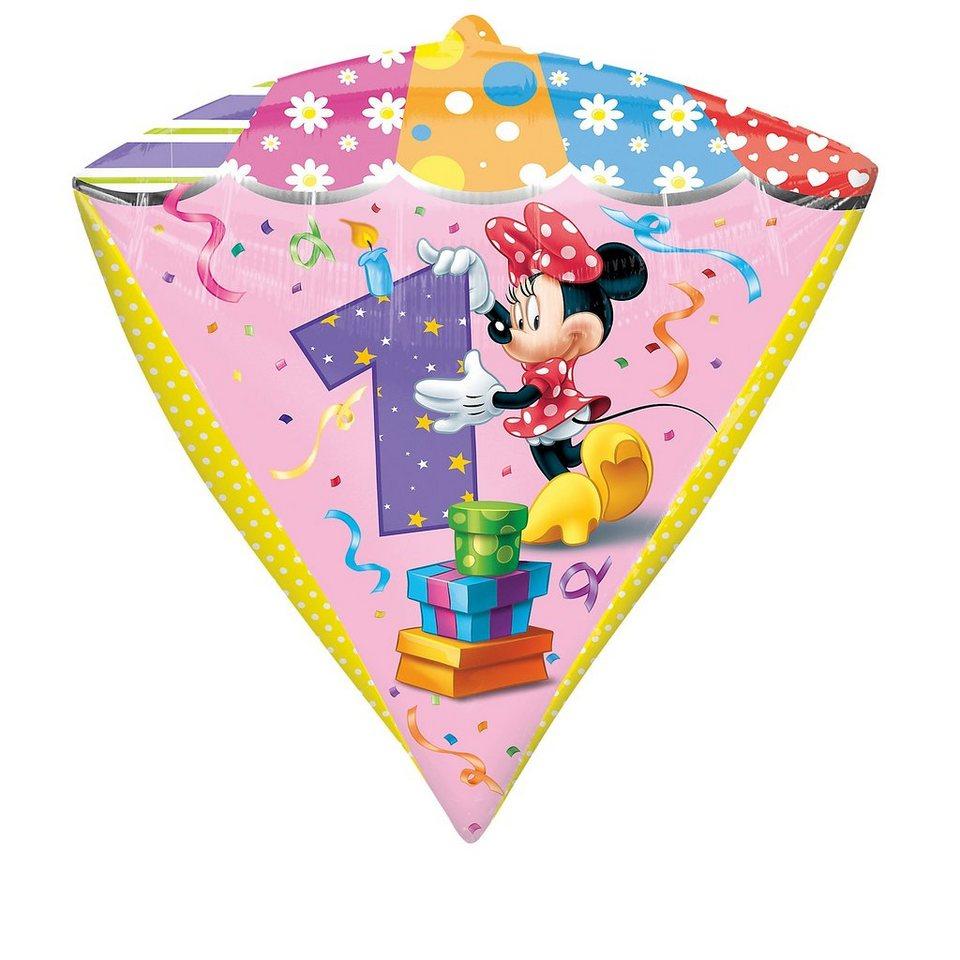 Amscan Folienballon Minnie Maus Zahl 1