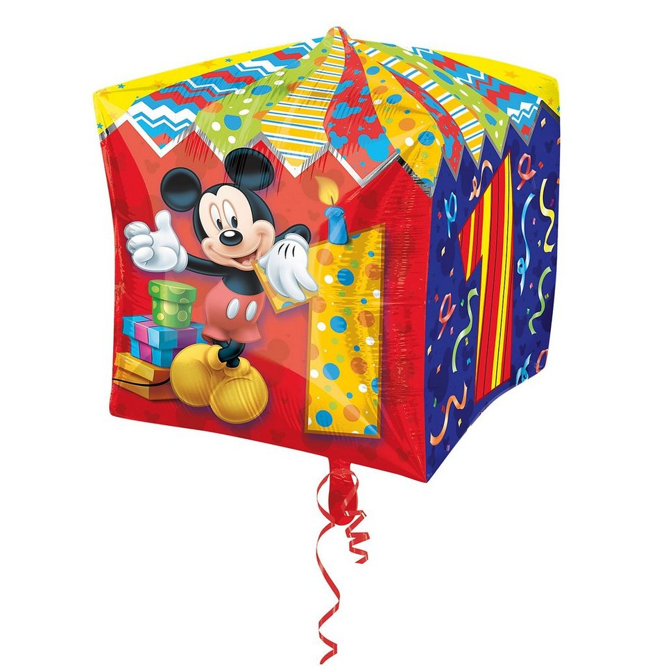 Amscan Folienballon Mickey Maus Zahl 1