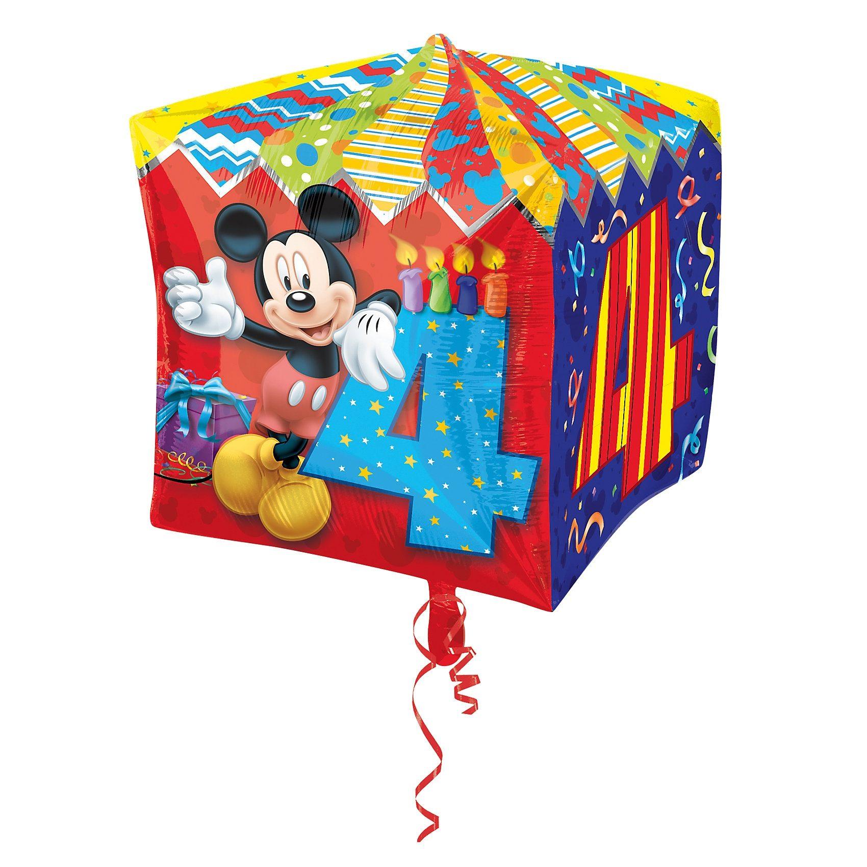 Amscan Folienballon Mickey Maus Zahl 4
