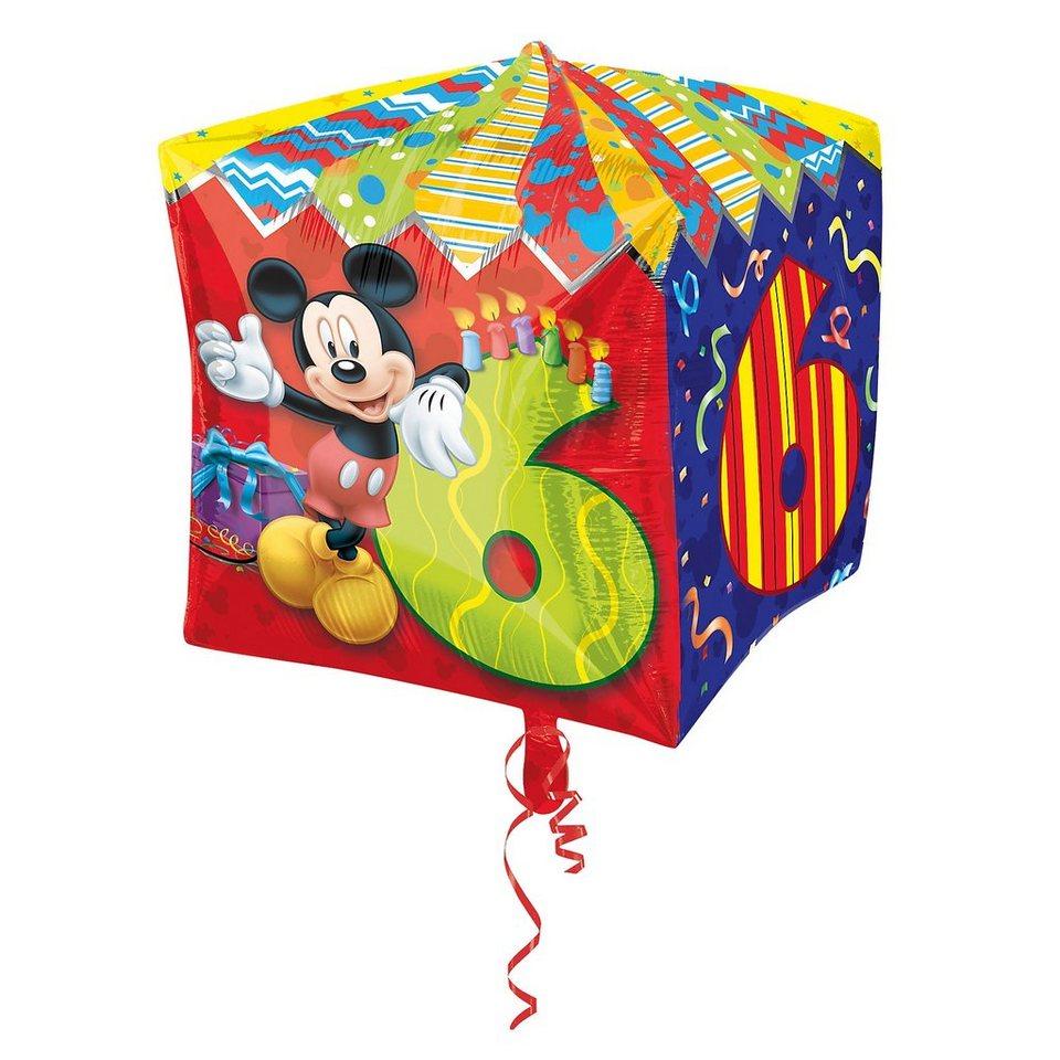Amscan Folienballon Mickey Maus Zahl 6
