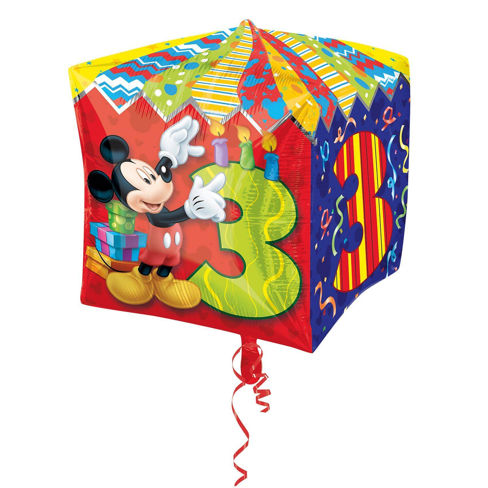 Amscan Folienballon Mickey Maus Zahl 3