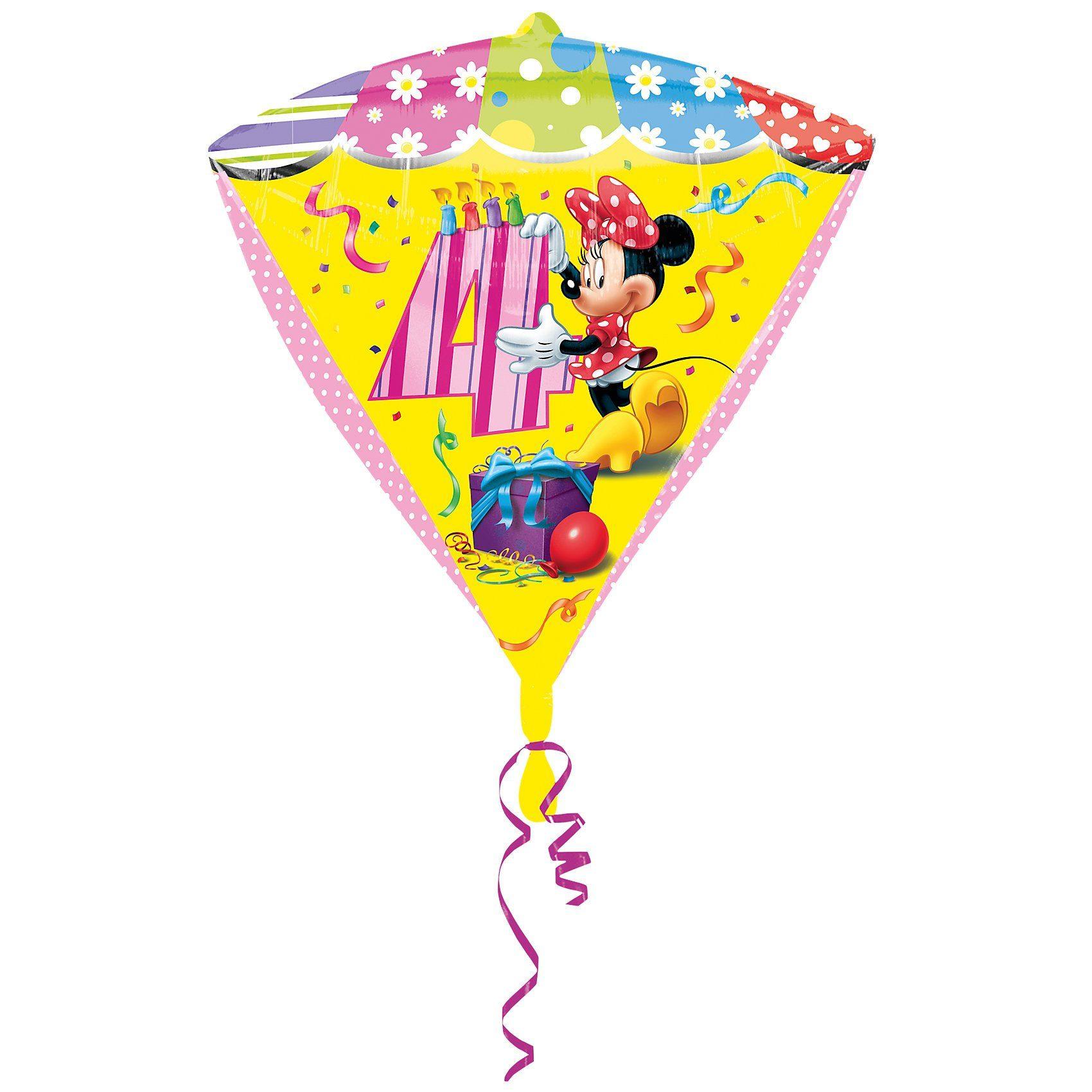 Amscan Folienballon Minnie Maus Zahl 4