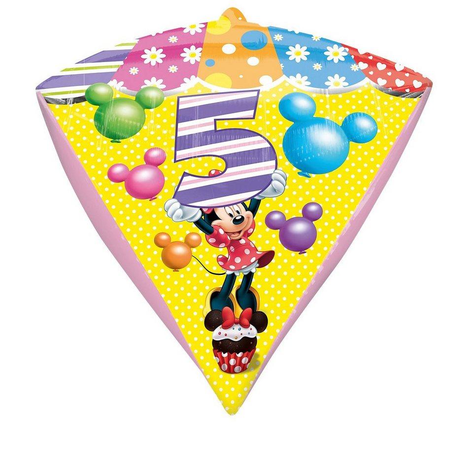 Amscan Folienballon Minnie Maus Zahl 5